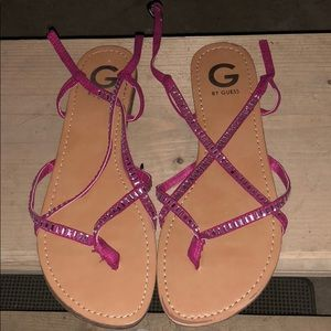 Guess sandals.